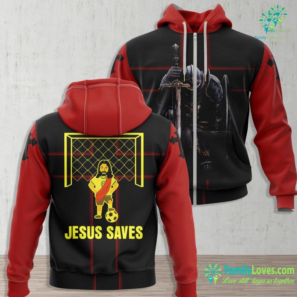 Jesus Teachings Jesus Saves Funny Christian Goalie Goalkeeper Soccer Jesus Zip-up Hoodie All Over Print Familyloves.com