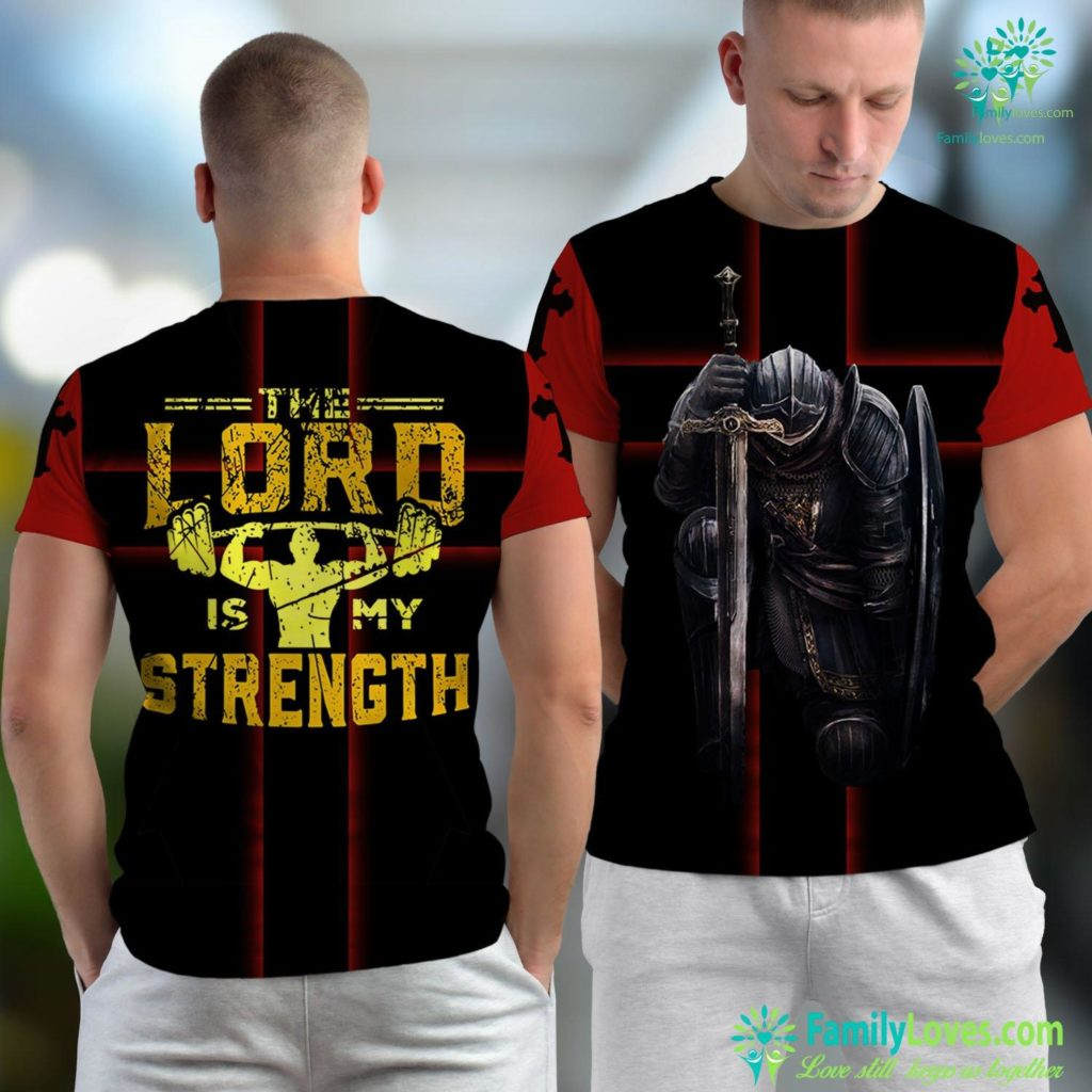 John 21 Jesus Workout The Lord Is My Strength Christian Gym Jesus Unisex T-shirt All Over Print Familyloves.com