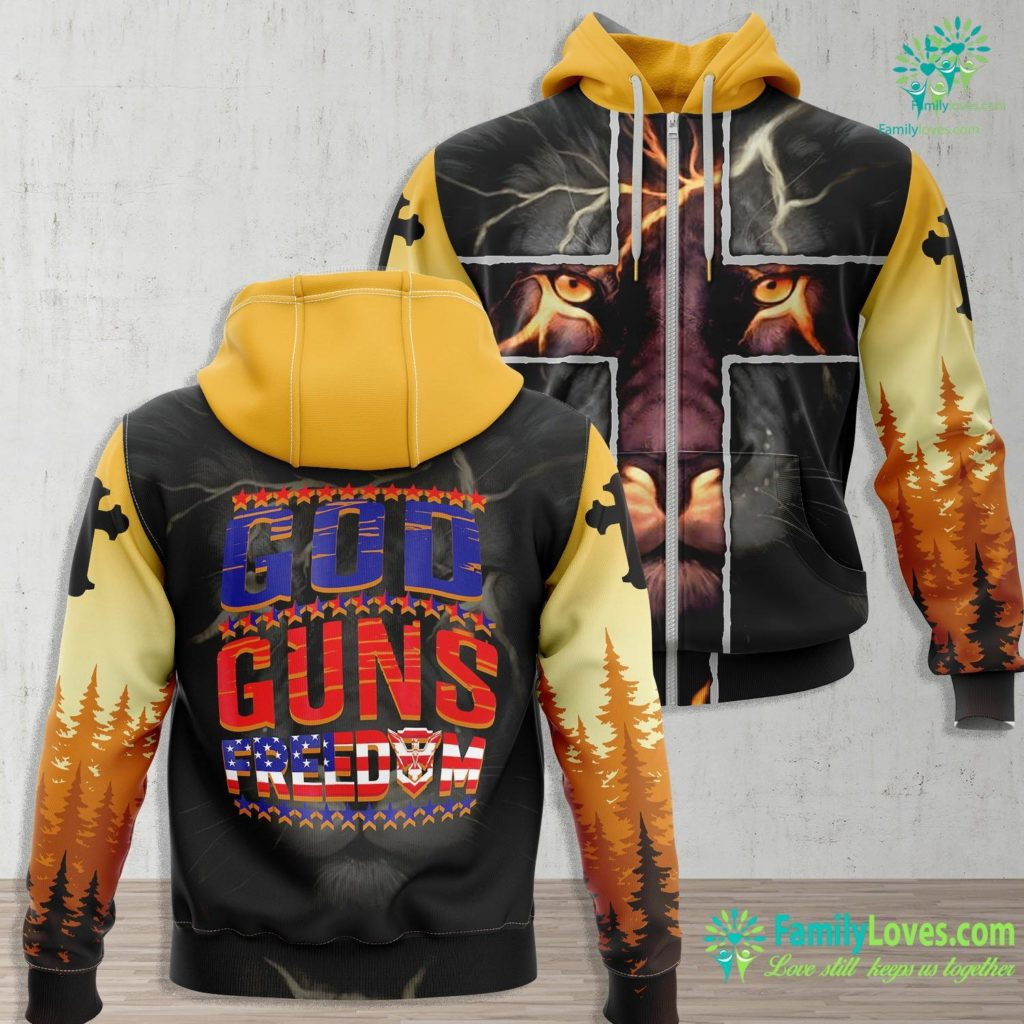 Joseph Of Arimathea God Gun Freedom Jesus Zip-up Hoodie All Over Print Familyloves.com