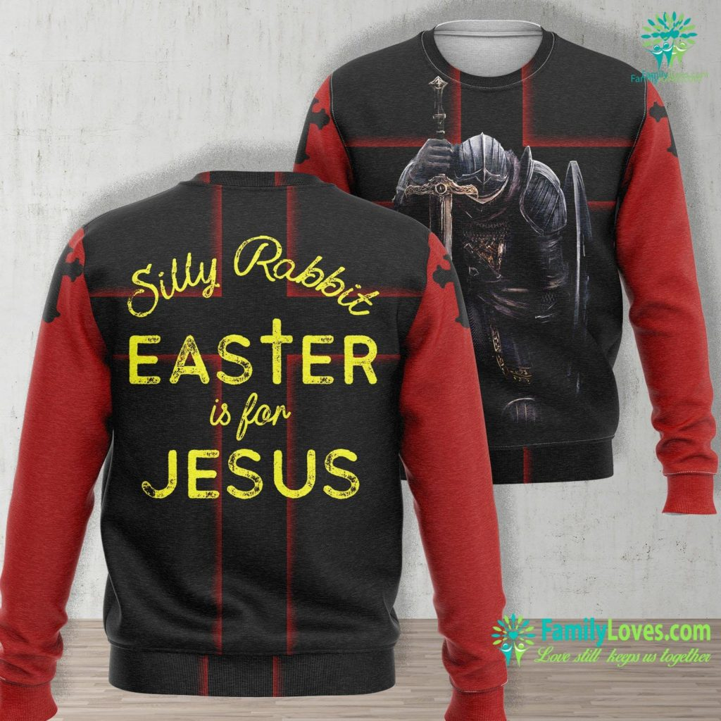 Joseph Of Arimathea Silly Rabbit Easter Is For Jesus Christians Men Women Kids Jesus Unisex Long Sleeve Sweatshirt All Over Print Familyloves.com