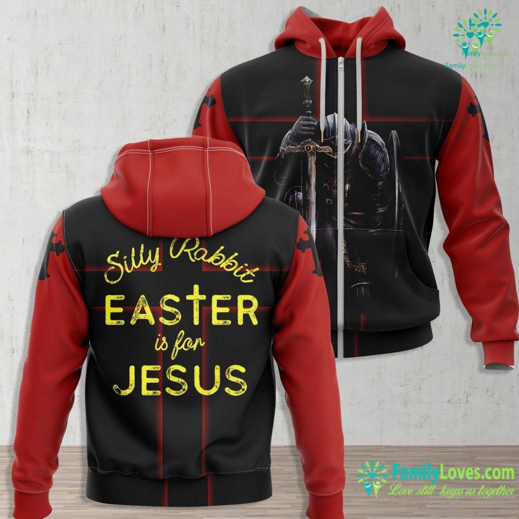 Joseph Of Arimathea Silly Rabbit Easter Is For Jesus Christians Men Women Kids Jesus Zip-up Hoodie All Over Print Familyloves.com