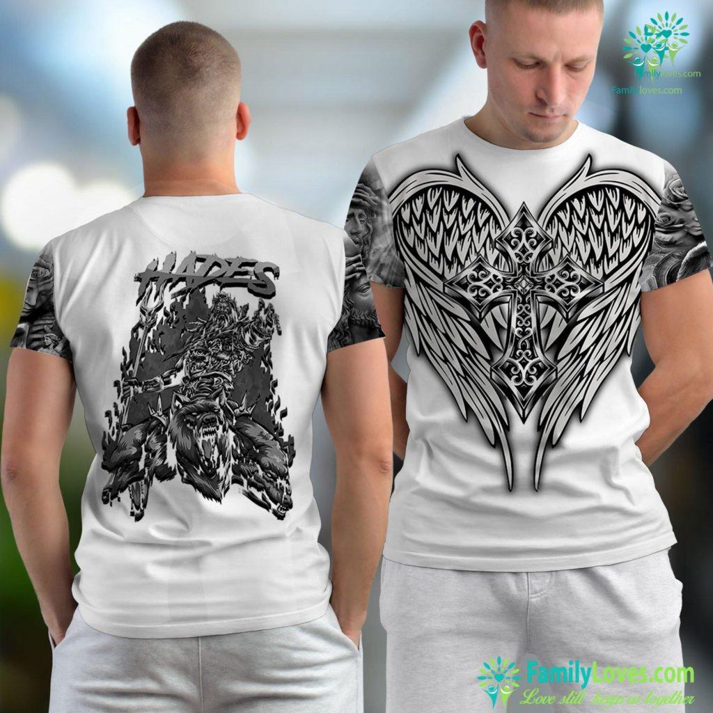 Judas And Jesus Hades Ancient Greek Mythology God Of The Underworld Cerberus Jesus Unisex T-shirt All Over Print Familyloves.com