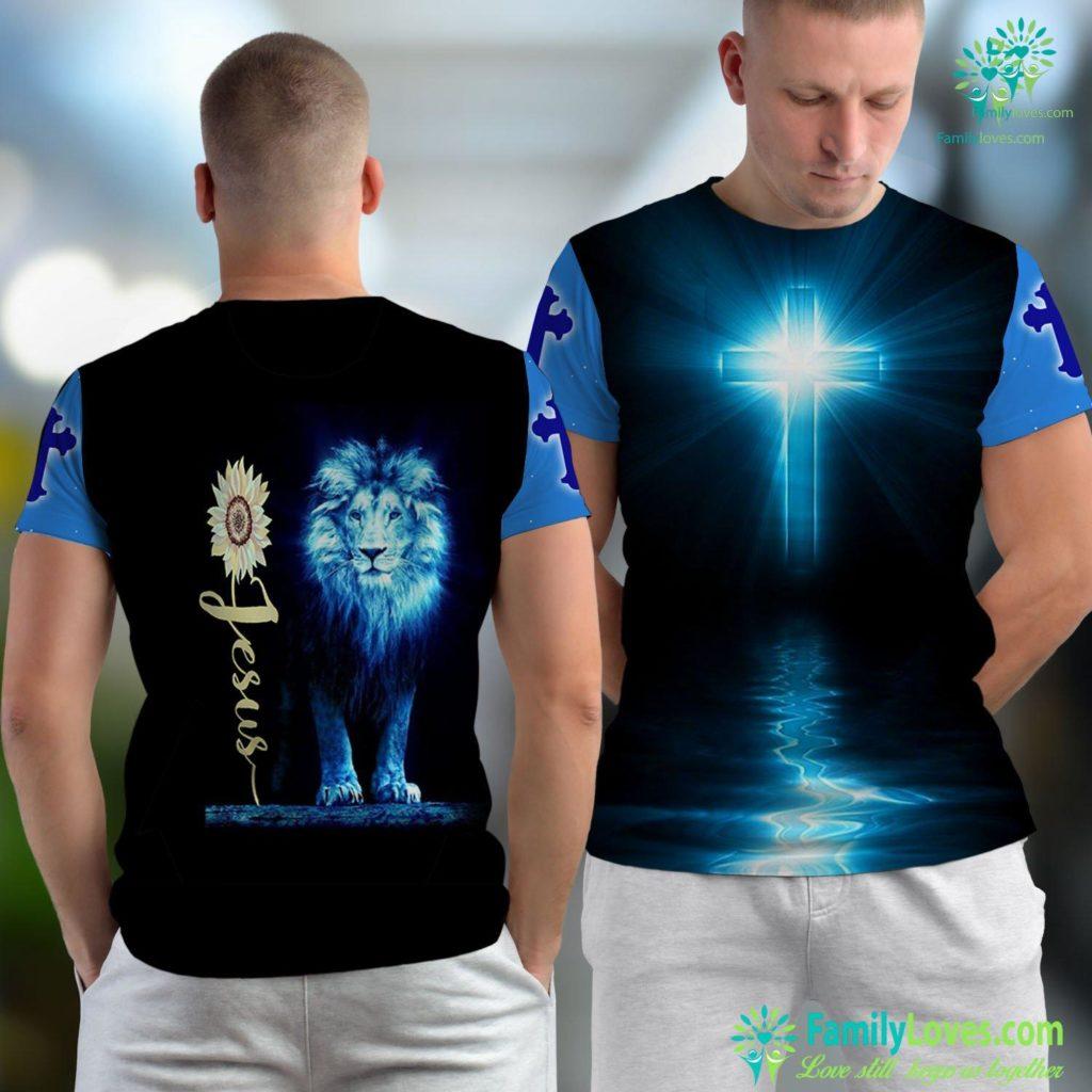 Lazareth Bible Christian Gift Jesus Sunflower Jesus Unisex T-shirt All Over Print Familyloves.com