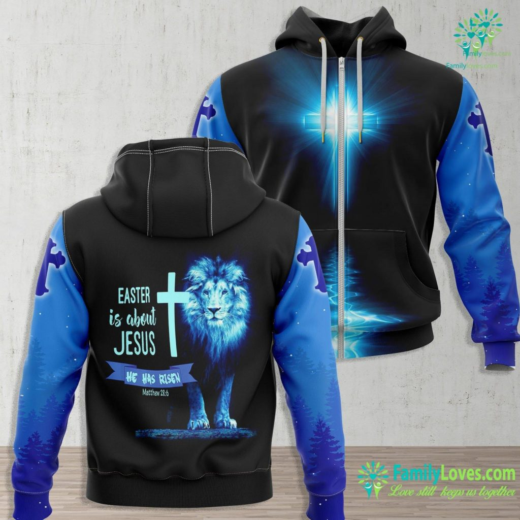 Lord And Saviour Easter Is About Jesus He Has Risen Christian Jesus Zip-up Hoodie All Over Print Familyloves.com