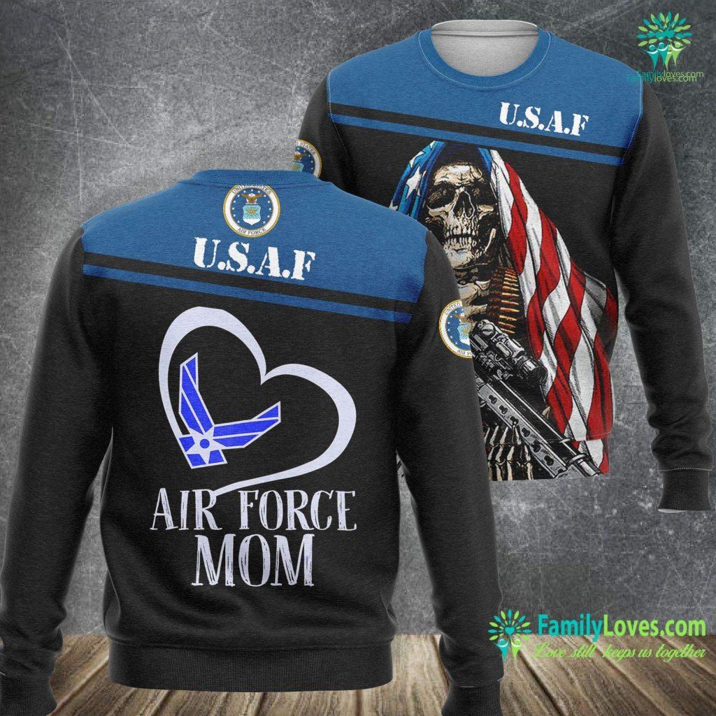 Maine Air Force Base Pride U S Air Force Mom Air Force Mom Hear Air Force Sweatshirt All Over Print Familyloves.com