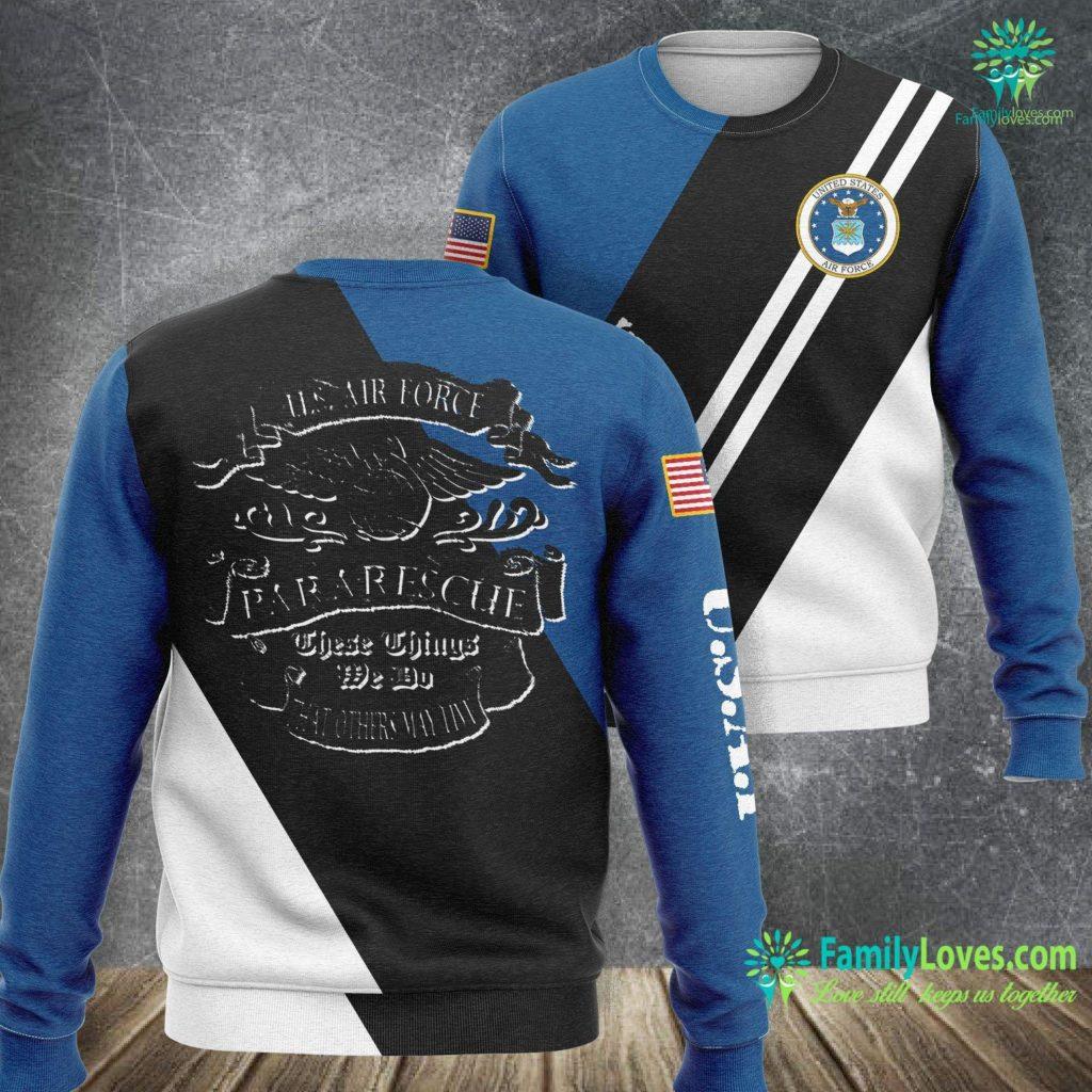 Mens Air Force Ones U S Air Force Para Rescue Usaf Pj Gif Air Force Sweatshirt All Over Print Familyloves.com