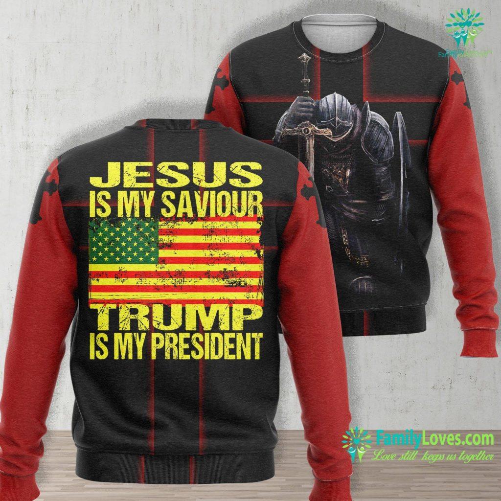 Miracles Of Jesus Jesus Is My Saviour Trump Is My President Donald Trump 2020 Jesus Unisex Long Sleeve Sweatshirt All Over Print Familyloves.com