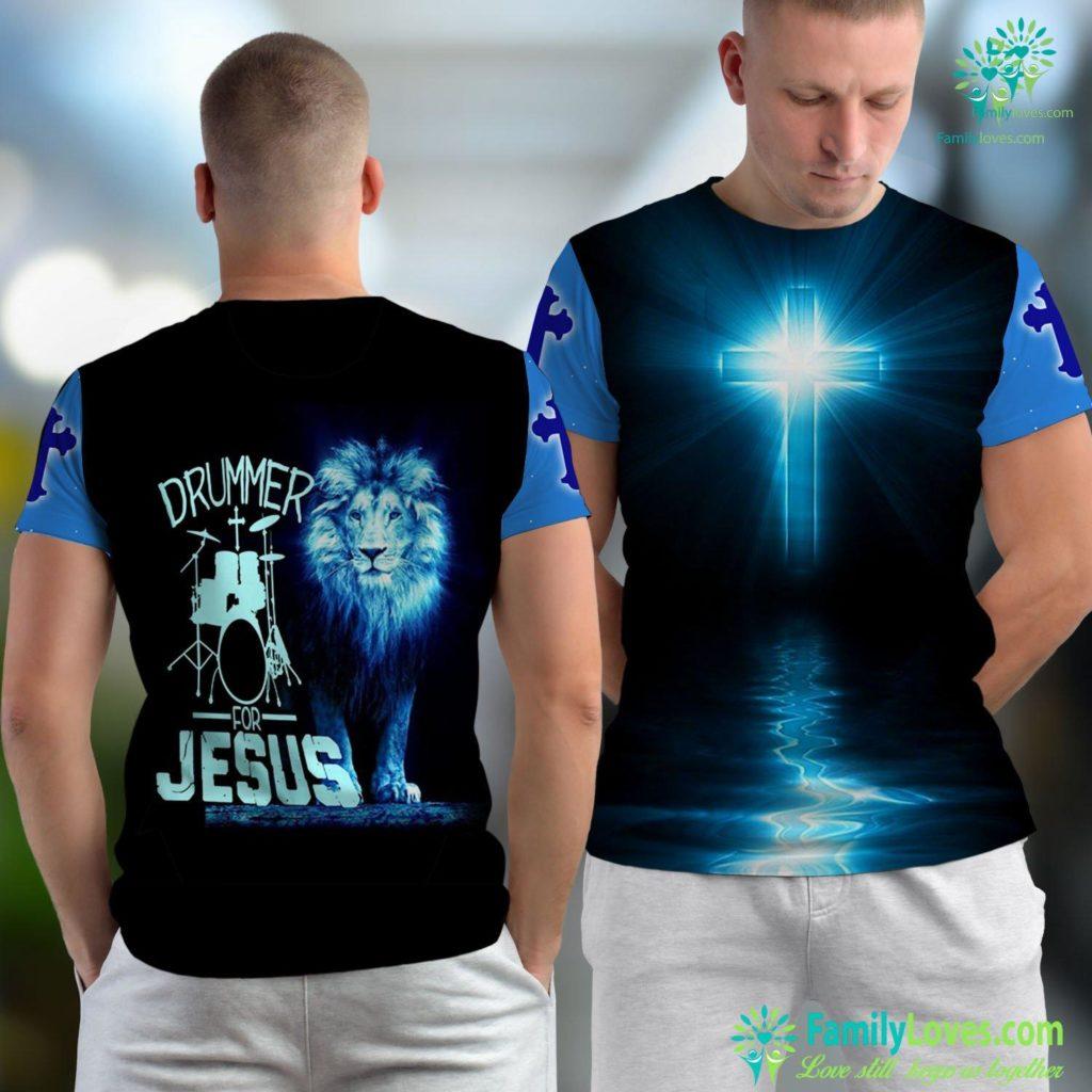 Mormon Church Near Me Christian Drummer Gif Drumming For Jesus Jesus Unisex T-shirt All Over Print Familyloves.com