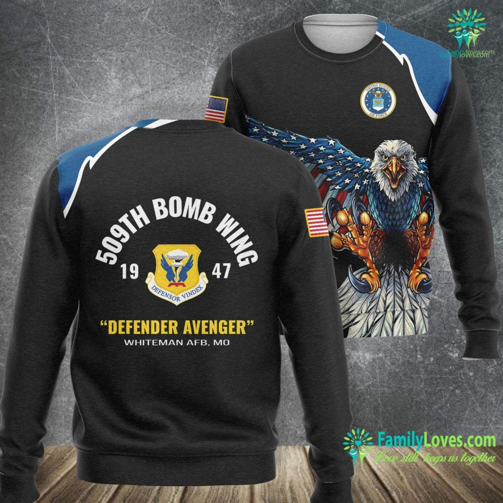 Navy Blue High Top Air Force Ones Air Force 509Th Bomb Wing Air Force Sweatshirt All Over Print Familyloves.com