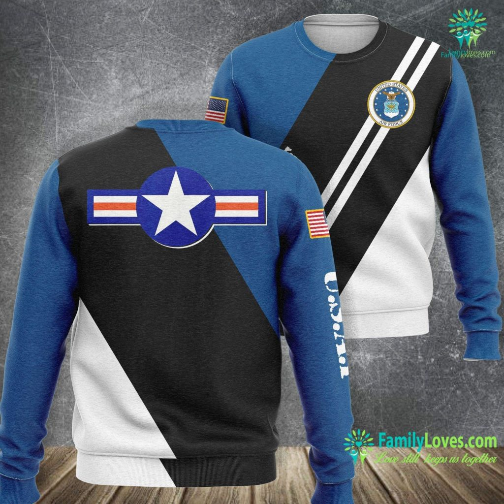 New Air Force Camo Us Air Force Army Navy Military Aviation Roundel Air Force Sweatshirt All Over Print Familyloves.com
