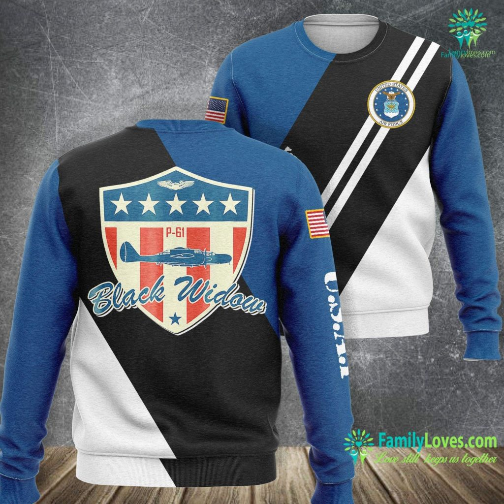 New Air Force One Plane Ww2 Air Force Usaaf P 61 Black Widow Air Force Sweatshirt All Over Print Familyloves.com
