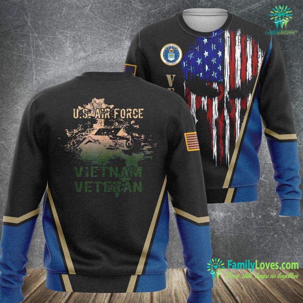 New Air Force Uniform U S Air Force Vietnam Veteran Air Force Sweatshirt All Over Print Familyloves.com