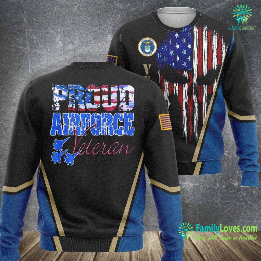 New Hampshire Air Force Base Proud Air Force Veteran Usa Flag Men Women Air Force Sweatshirt All Over Print Familyloves.com