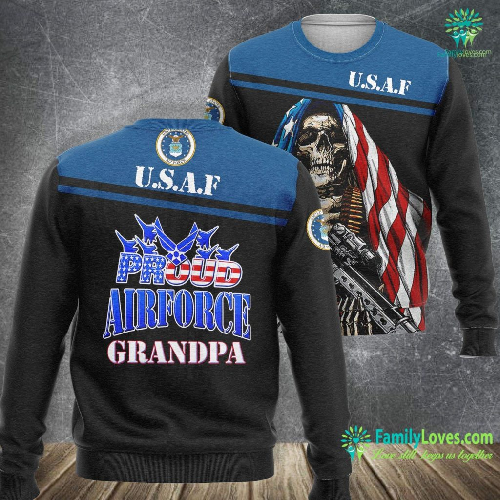 New Jersey Air Force Base Proud Air Force Grandpa Grandparents Day Usa Military Air Force Sweatshirt All Over Print Familyloves.com