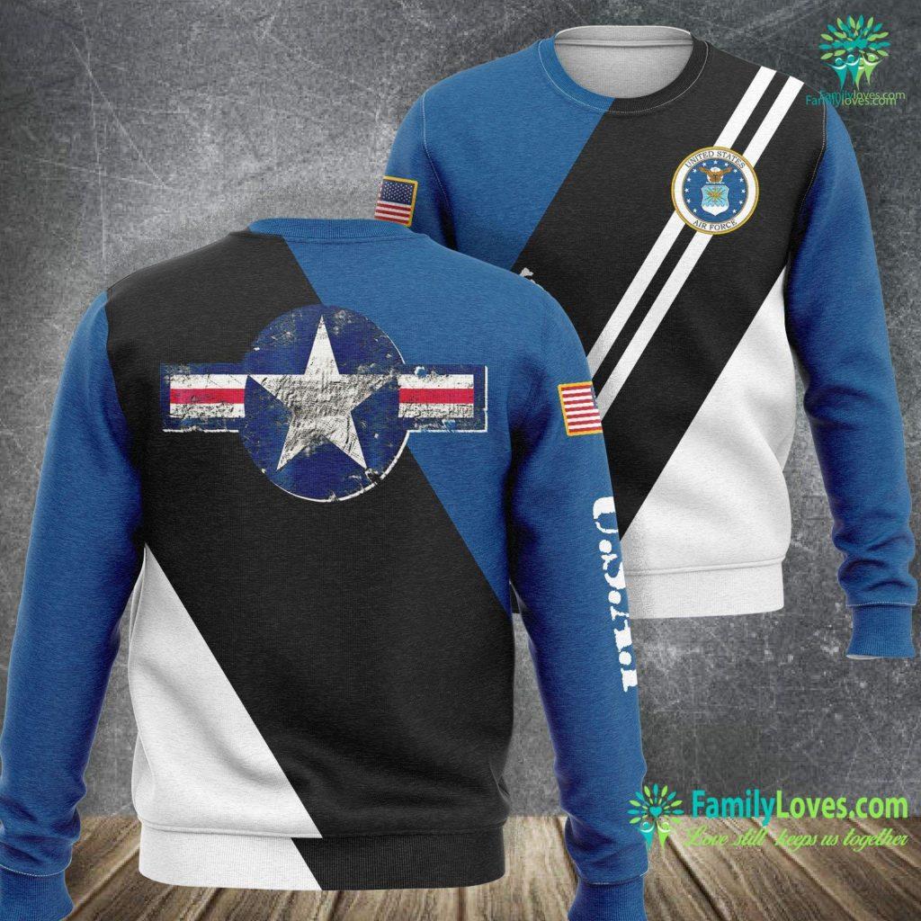 Norton Air Force Base U S Air Force Original Vintage Usaf Logo Gift Air Force Sweatshirt All Over Print Familyloves.com