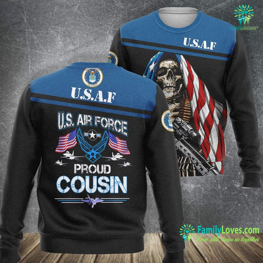 Nuclear Weapons Air Force Proud Cousin U S Air Force Stars Air Force Family Gift Air Force Sweatshirt All Over Print Familyloves.com