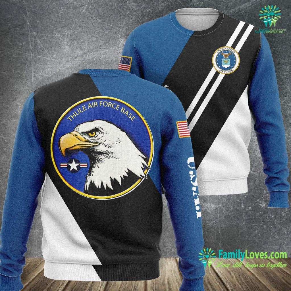 Old Air Force Logos Thule Air Force Base Eagle Emblem Air Force Sweatshirt All Over Print Familyloves.com