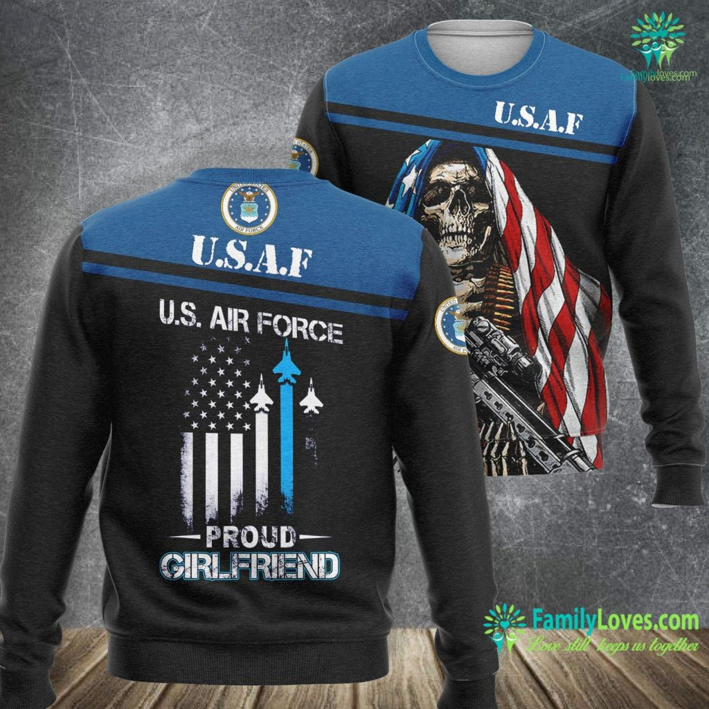 Otis Air Force Base Pride Military Family Proud Girlfriend U S Air Force Air Force Sweatshirt All Over Print Familyloves.com