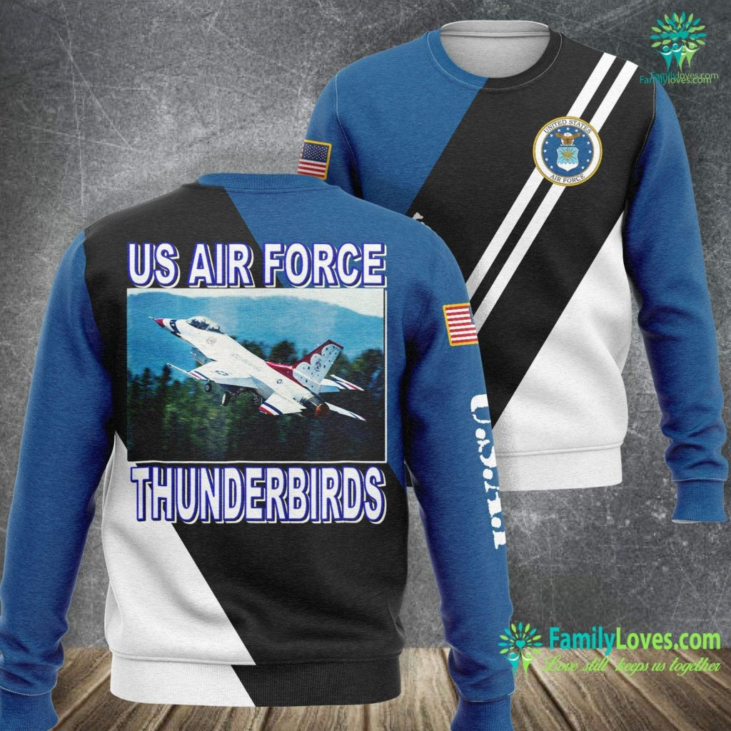 Pararescue Air Force U S Air Force Thunderbirds Takeoff 17 Air Force Sweatshirt All Over Print Familyloves.com