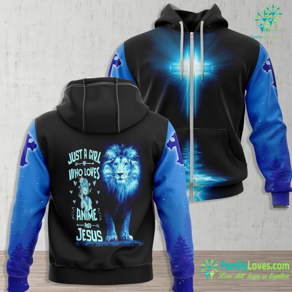 Repent And Be Baptized Anime And Jesus Gifts For Daughter And Girls Jesus Zip-up Hoodie All Over Print Familyloves.com