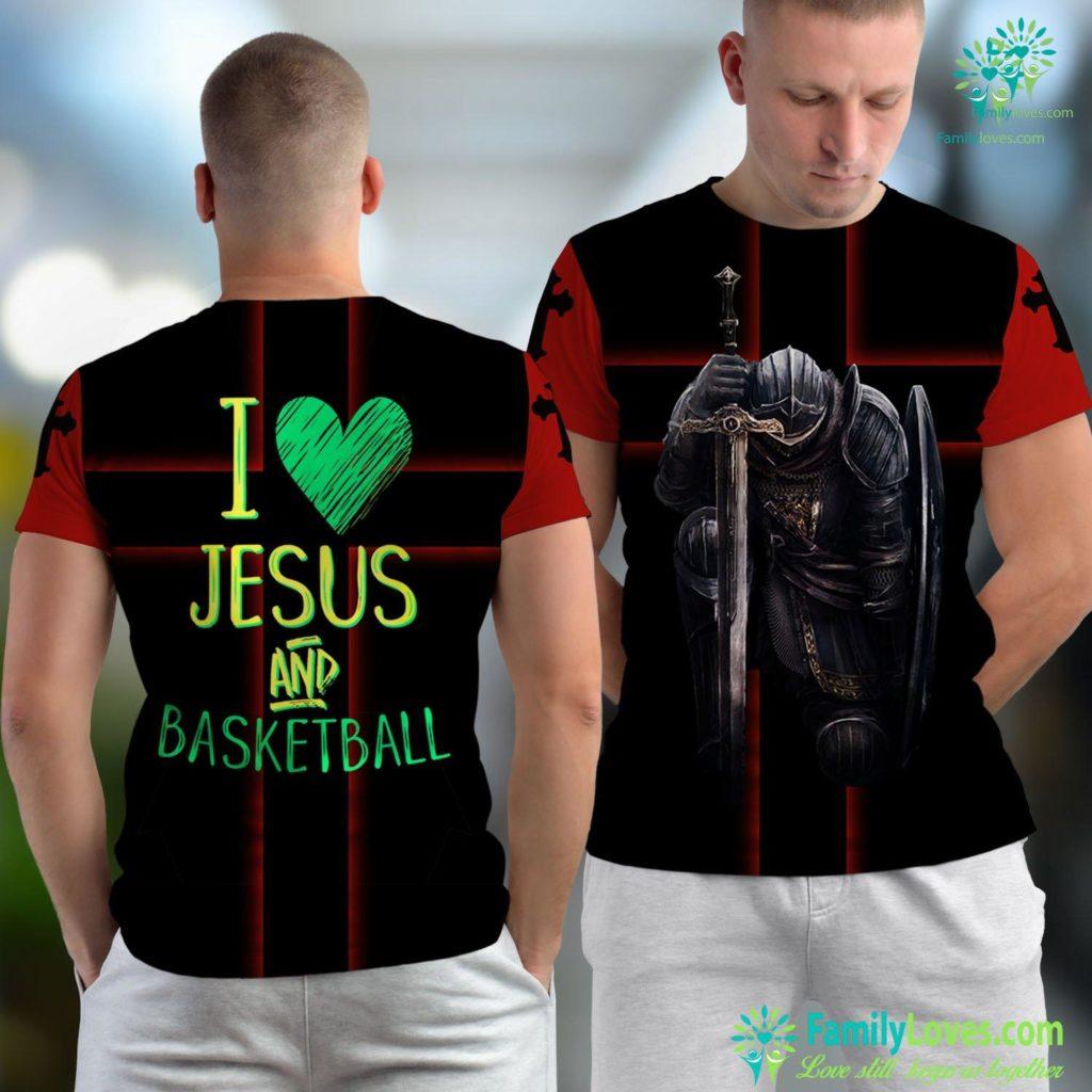 Rey Jesus En Vivo I Love Jesus And Basketball Player Fan Cheer Gift Christian Result Jesus Unisex T-shirt All Over Print Familyloves.com