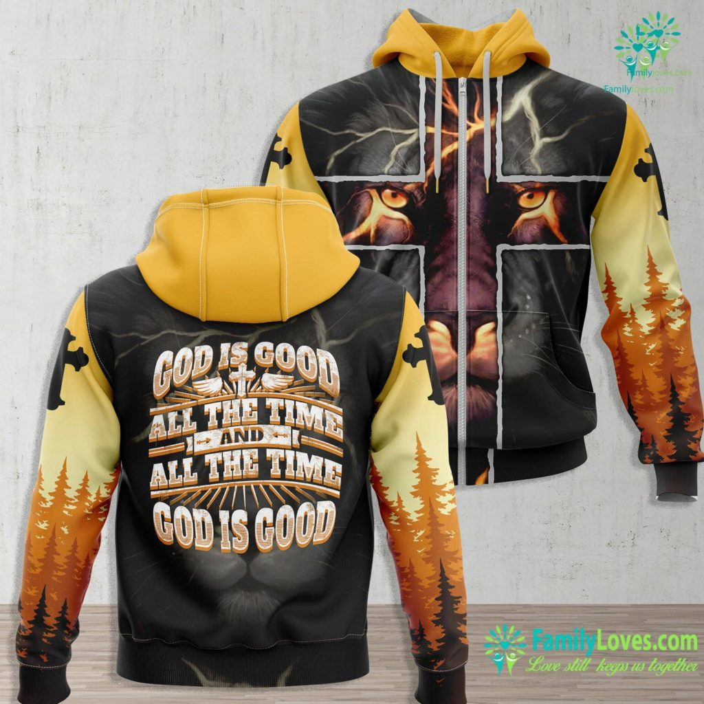 Rich Young Ruler Cool Christian Saying God Is Good All The Time Tee Jesus Zip-up Hoodie All Over Print Familyloves.com