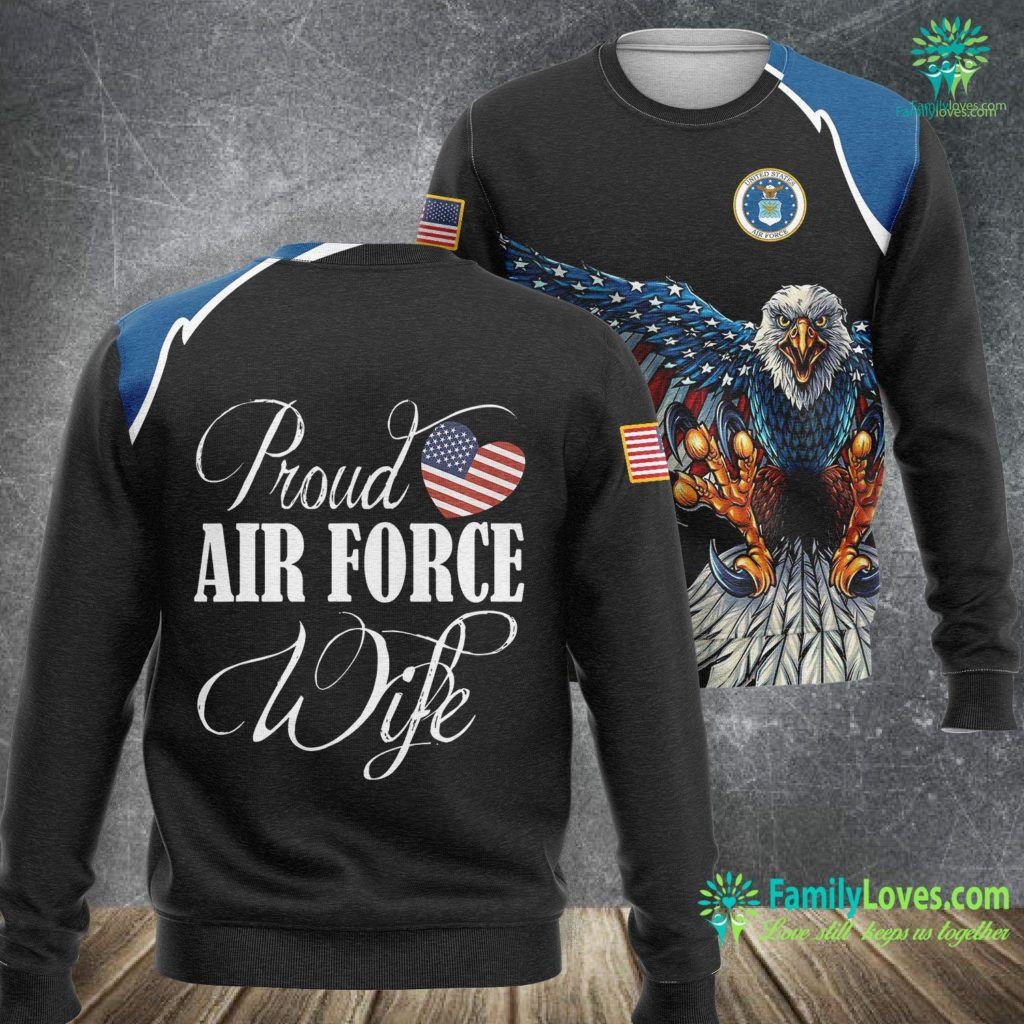 San Antonio Texas Air Force Base Air Force Wife Proud Air Force Wife Air Force Sweatshirt All Over Print Familyloves.com