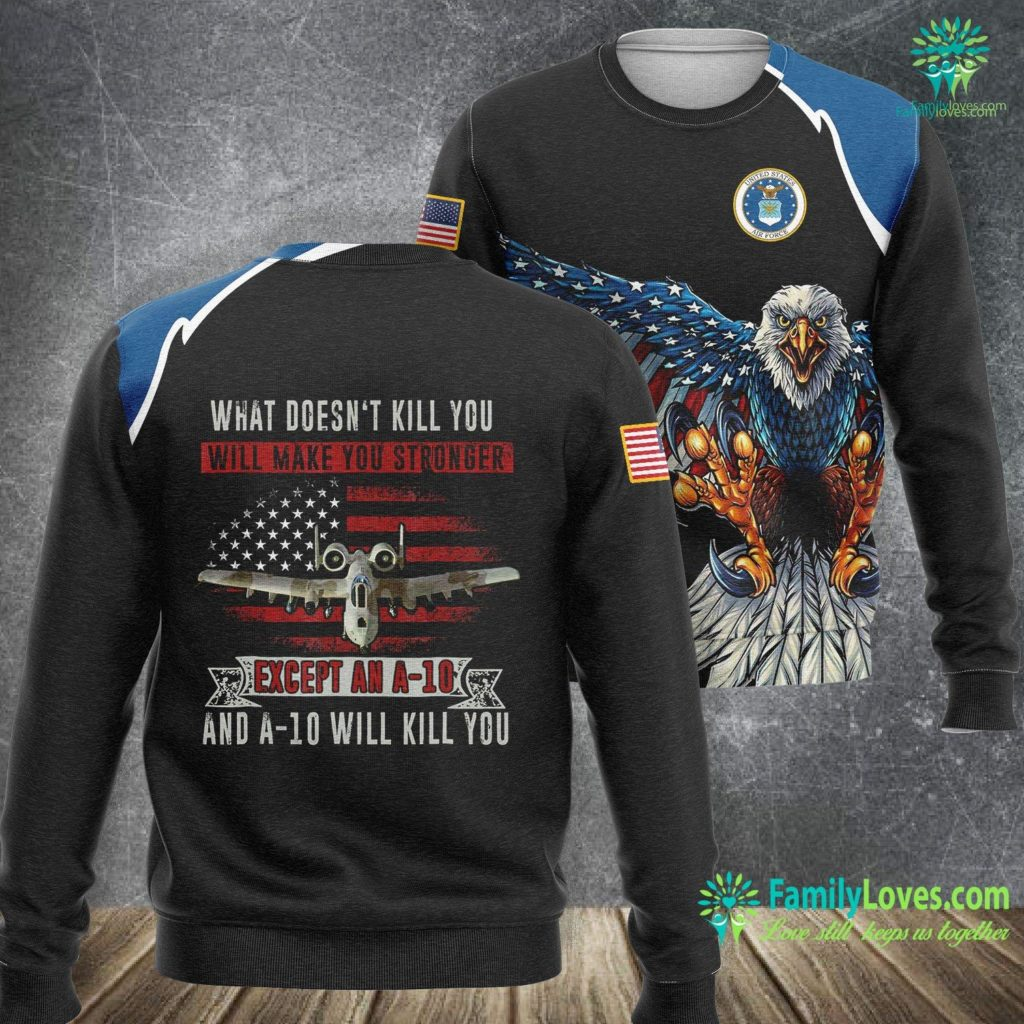 Scott Air Force Base Air Show Air Force A 10 Warthog Funny Military Air Force Sweatshirt All Over Print Familyloves.com
