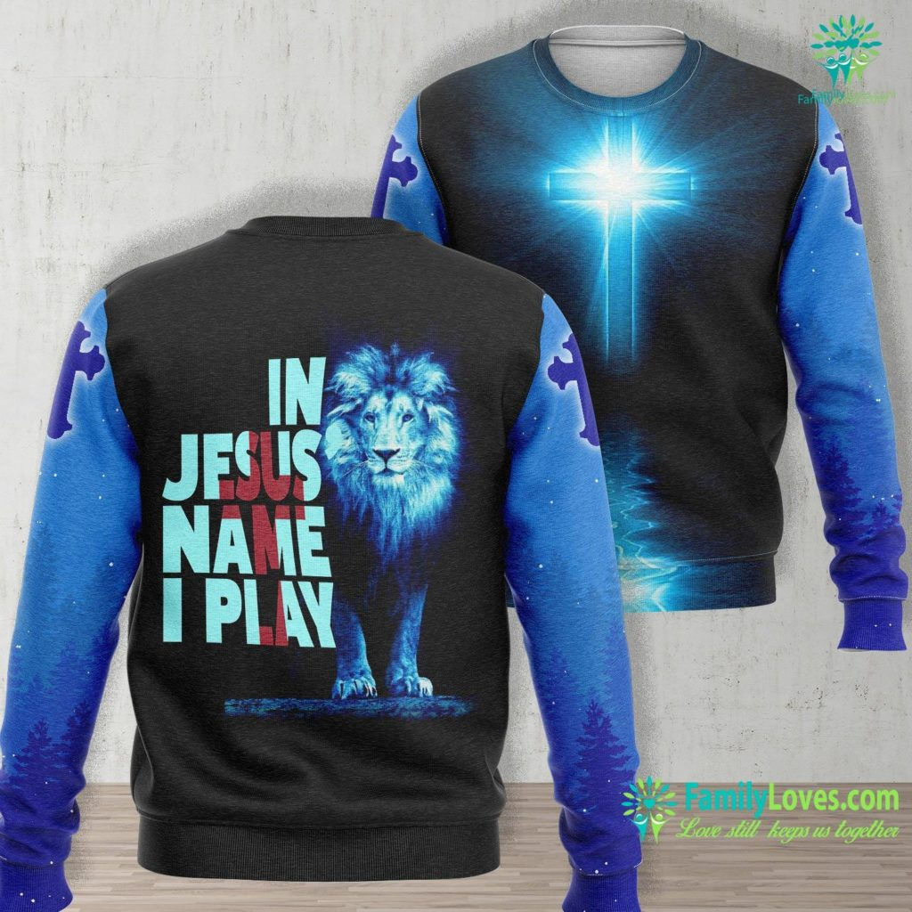 Shine Jesus Shine Christian Athlete Sports S In Jesus Name I Play Jesus Unisex Long Sleeve Sweatshirt All Over Print Familyloves.com