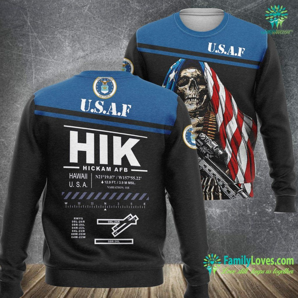 Space Operations Air Force Hickam Afb Air Force Base Pearl Harbor Hawaii Hik Air Force Sweatshirt All Over Print Familyloves.com