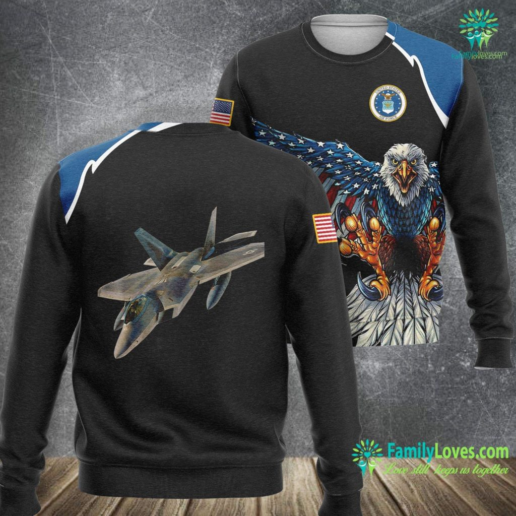 Squadron Air Force Air Force F 22 Raptor Fighter Jet Military Pilot Air Force Sweatshirt All Over Print Familyloves.com
