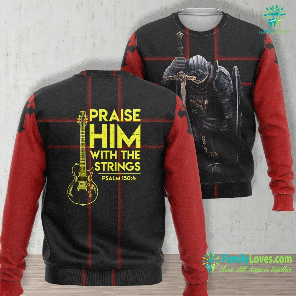 Story Of Paul In The Bible Praise Him Christian Worship Gifts Electric Guitar Jesus Jesus Unisex Long Sleeve Sweatshirt All Over Print Familyloves.com