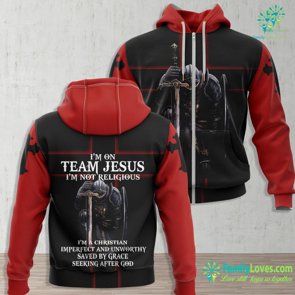 The Coming Of Christ Im On Team Jesus Im Not Religious Im A Christian Imperfect And Unworthy Saved By Grace Seeking After God Jesus Zip-up Hoodie All Over Print Familyloves.com