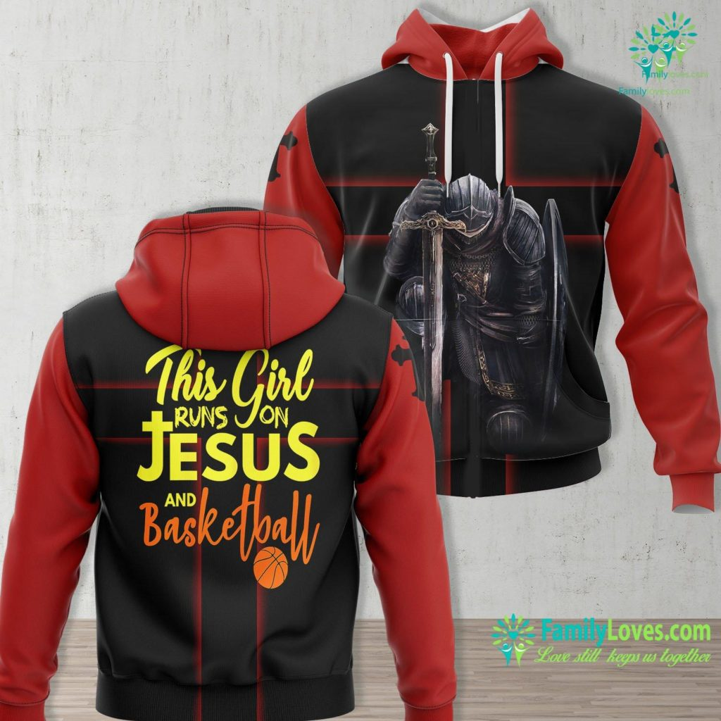 The Father Is Greater Than I This Girl Runs On Jesus And Basketball Result Jesus Unisex Hoodie All Over Print Familyloves.com