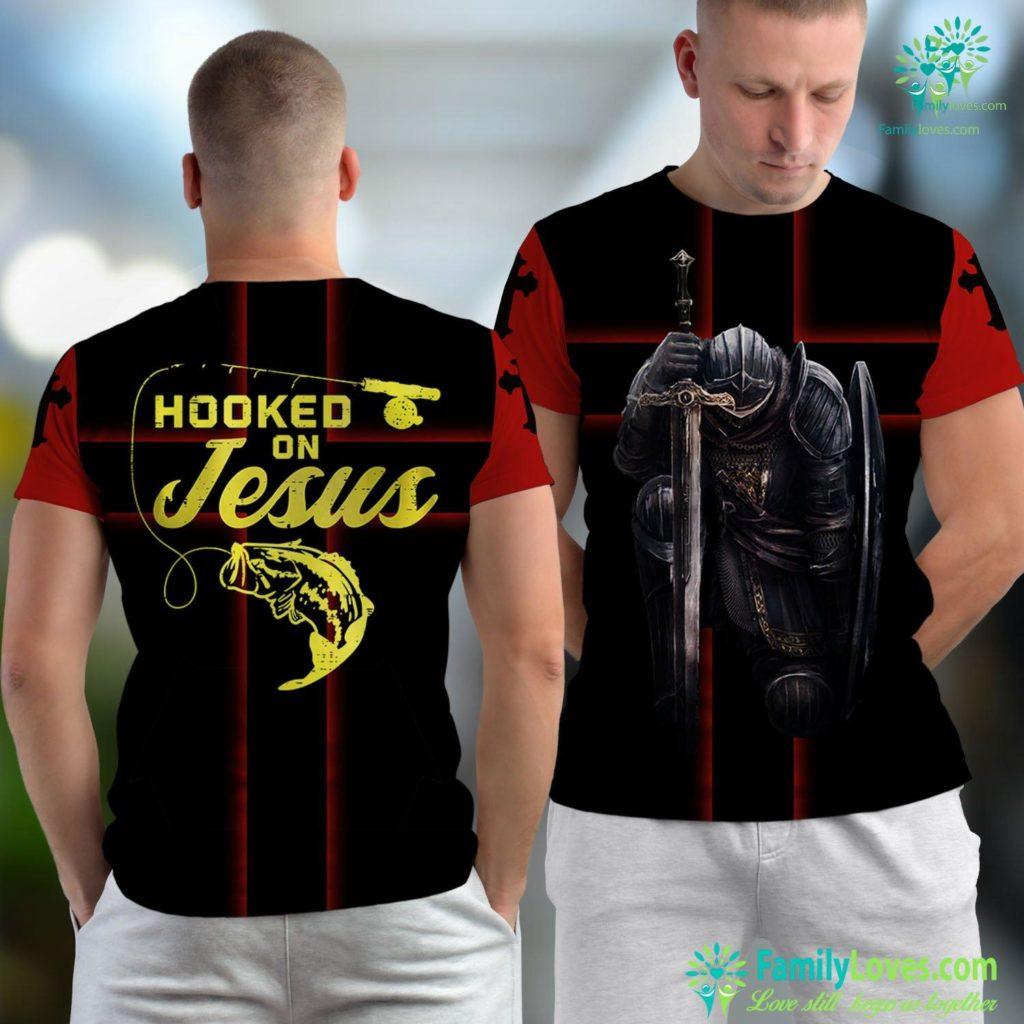 The Jesus Bible Hook On Jesus Bass Fishing Christian Religious God Gift Jesus Unisex T-shirt All Over Print Familyloves.com