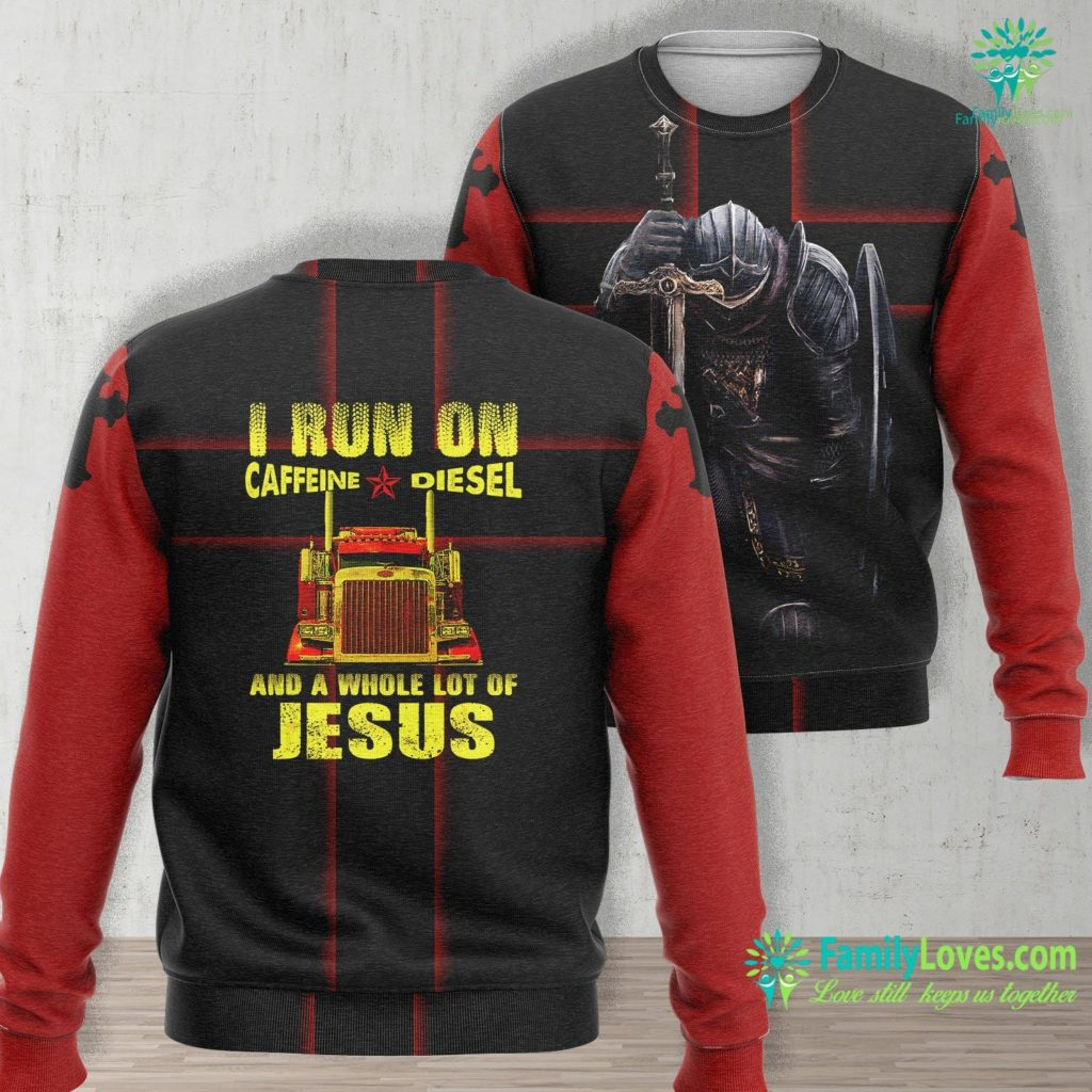 The Second Coming Of Christ Mens Caffeine Diesel Jesus Christian Trucker Gifts Jesus Unisex Long Sleeve Sweatshirt All Over Print Familyloves.com