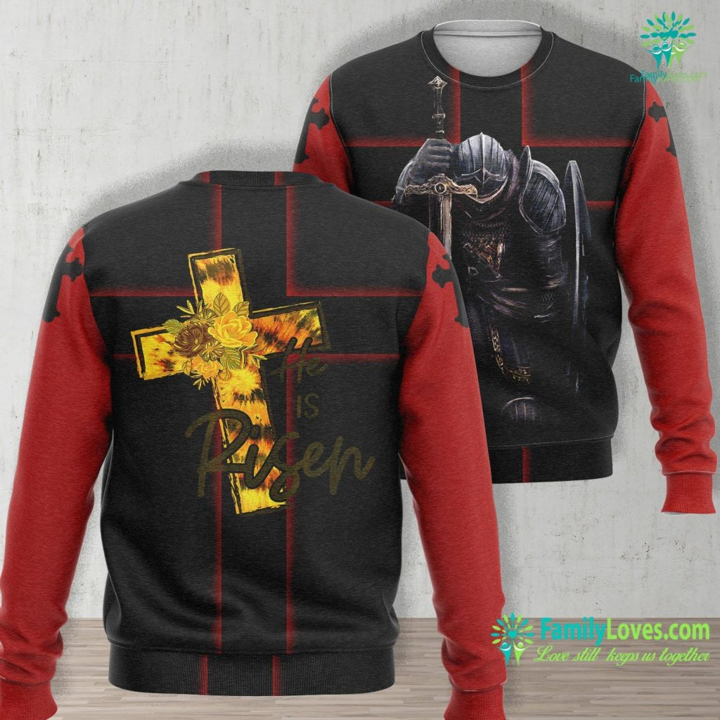 The Young Messiah He Is Risen Jesus Christ Religious Easter Jesus Unisex Long Sleeve Sweatshirt All Over Print Familyloves.com