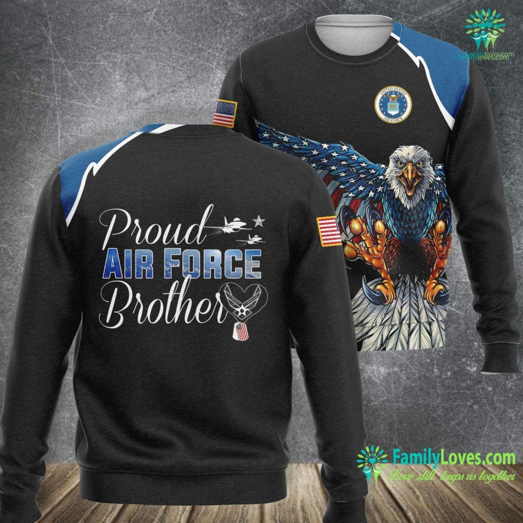 Tiger Stripe Air Force Air Force Brother Proud Air Force Brother Gift Air Force Sweatshirt All Over Print Familyloves.com