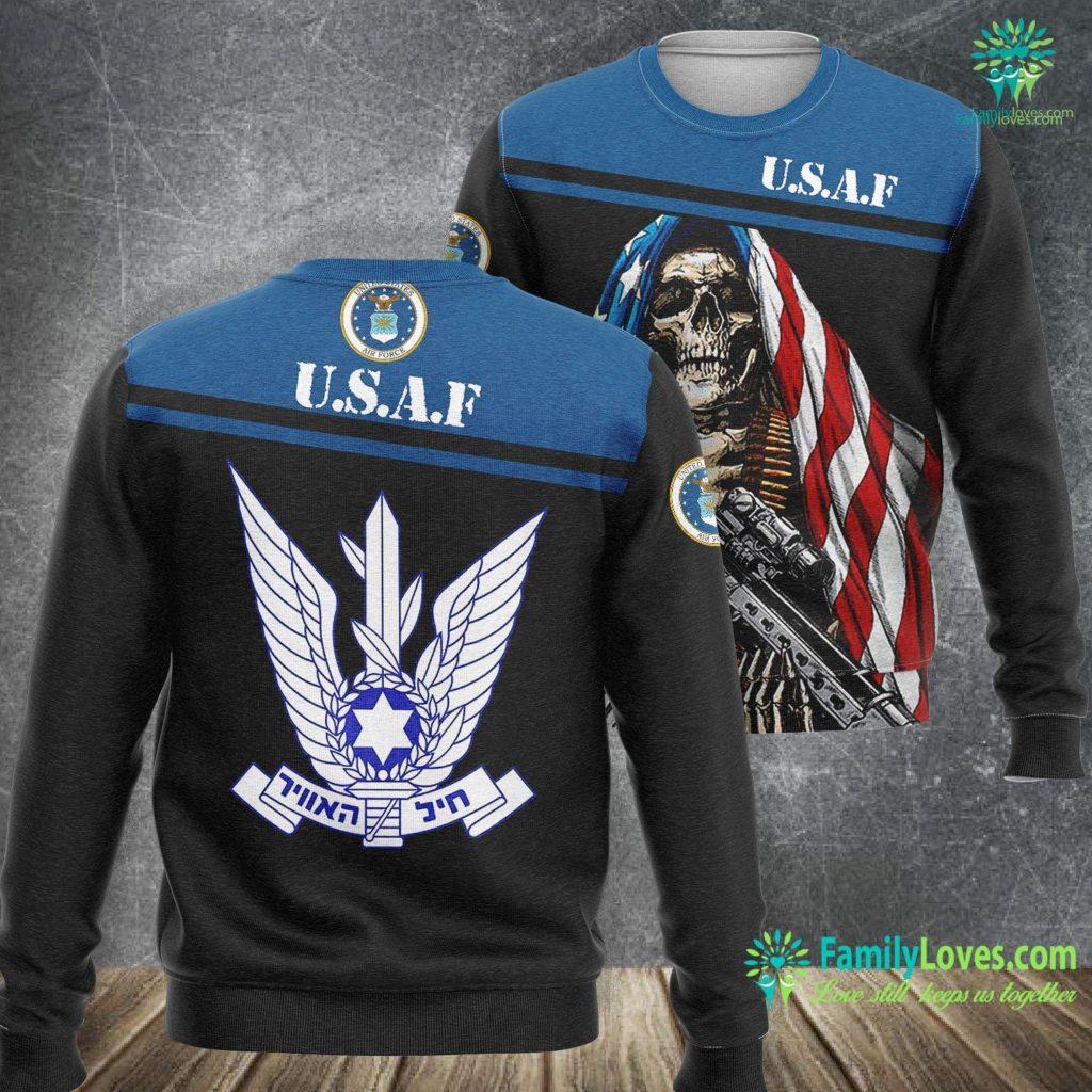 Travis Air Force Base Hospital Israeli Air Force Idf Iaf Israel Defense Force Pilot Air Force Sweatshirt All Over Print Familyloves.com