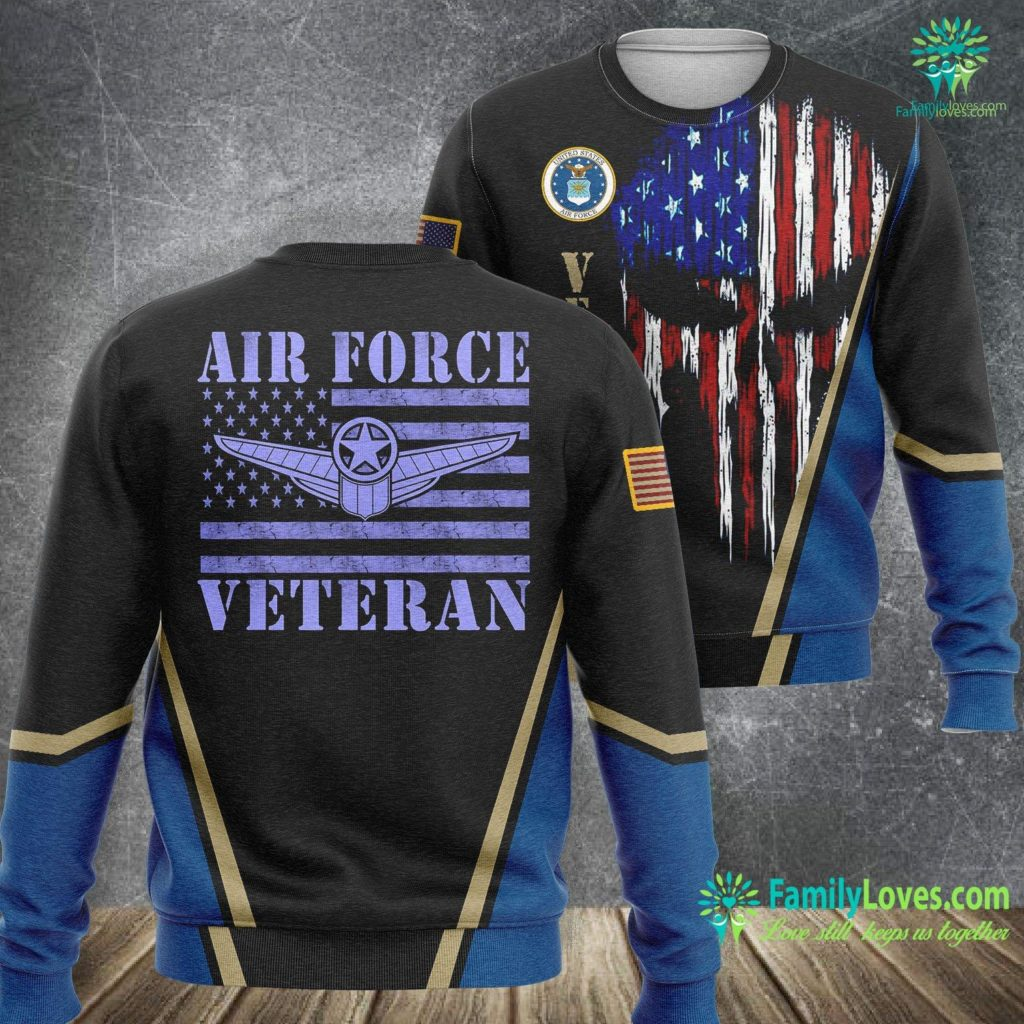Us Air Force Logo Veteran Us Air Force American Flag Veterans Mens Top Air Force Sweatshirt All Over Print Familyloves.com