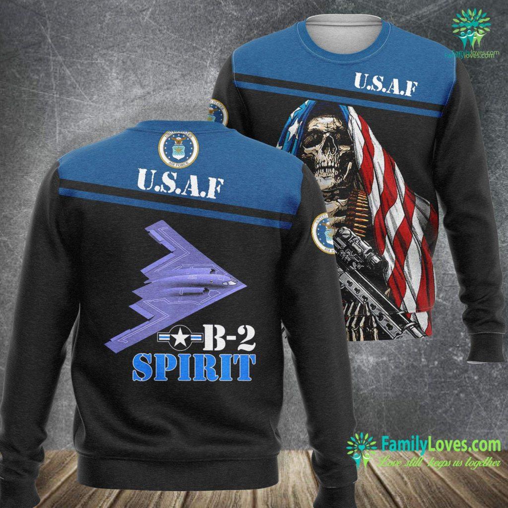Us Air Force Symbol Proud Air Force Bomber Airplane B 2 Spirit Air Force Sweatshirt All Over Print Familyloves.com