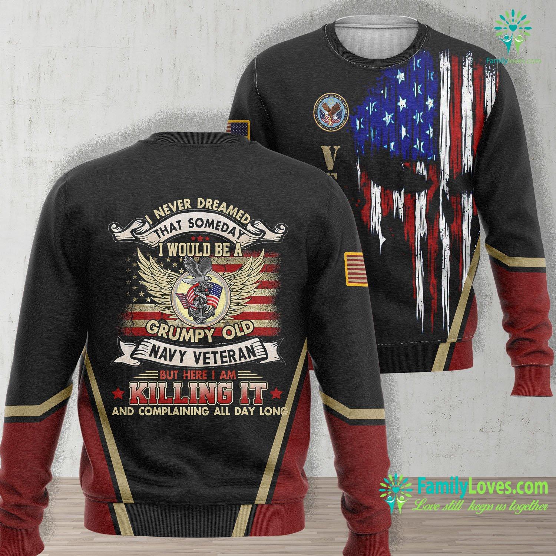 Us Navy Recruiter Mens Someday I Would Grumpy Old Navy Veteran Veteran Of Us Navy Navy Unisex Long Sleeve Sweatshirt All Over Print Familyloves.com
