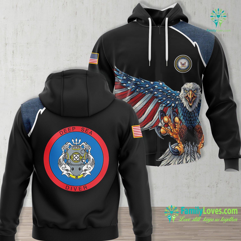Us Navy Symbol Deep Sea Diver Us Navy Coast Guard Master Navy Unisex Hoodie All Over Print Familyloves.com