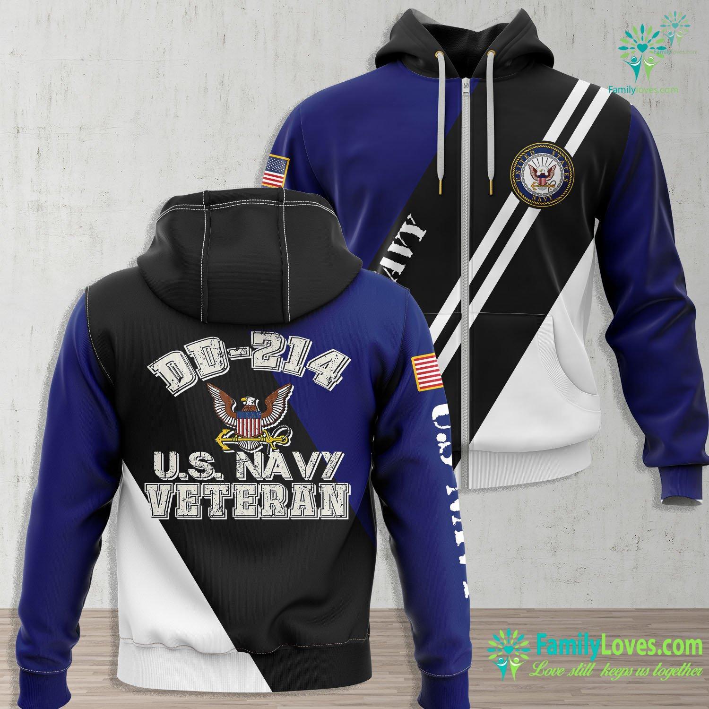 Us Navy Uniform US Navy Dd 214 Navy Alumni Gift Us Veterans Day Navy Zip-up Hoodie All Over Print Familyloves.com