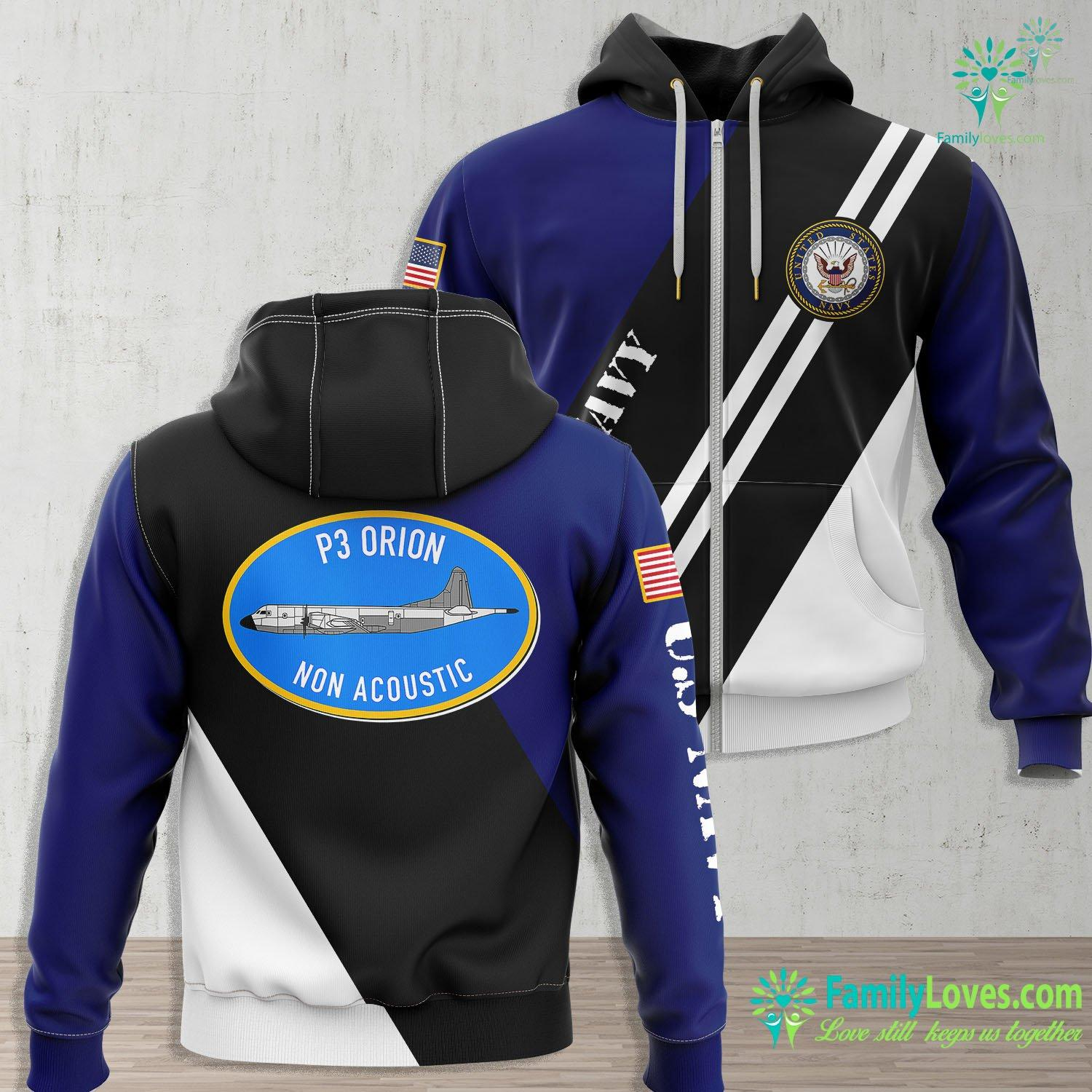 Us Navy Uss Theodore Roosevelt Us Navy P3 Orion Non Acoustic Operator Tee Navy Zip-up Hoodie All Over Print Familyloves.com