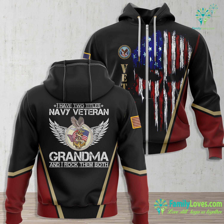 Us Navy Wallpaper I Am A Us Navy Veteran Grandma And I Rock Them Both Funny Navy Zip-up Hoodie All Over Print Familyloves.com