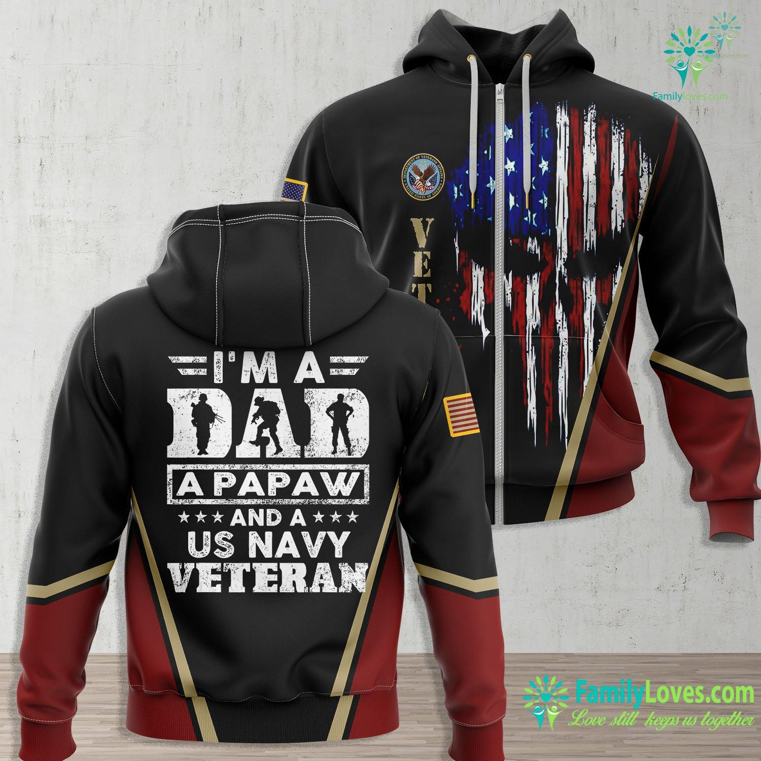 Us Navy Ww2 Mens Us Navy Veteran Papaw Im A Dad A Papaw And Us Navy Navy Zip-up Hoodie All Over Print Familyloves.com
