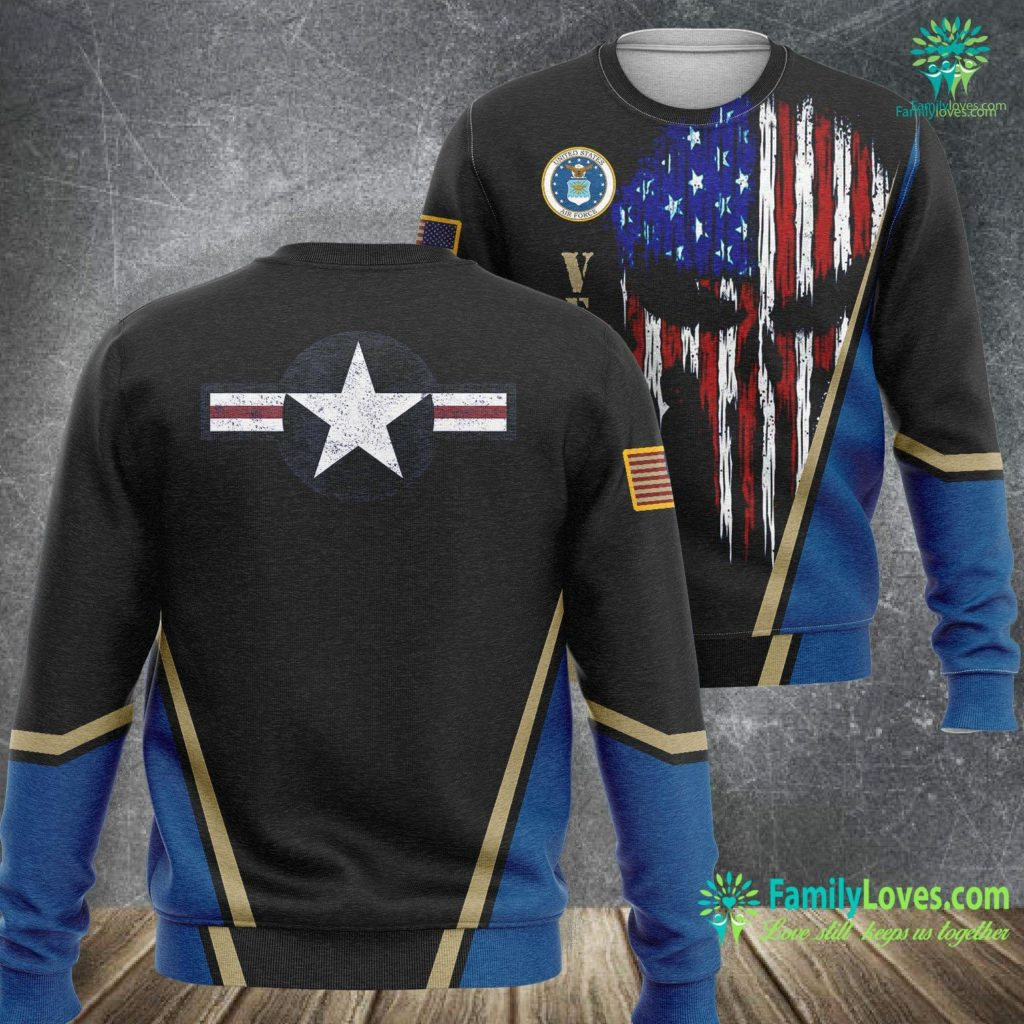 Usa Air Force Symbol Us Airforce Star Roundel Distressed Veteran Air Force Sweatshirt All Over Print Familyloves.com