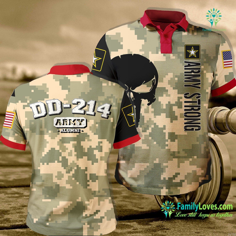 Vintage Military Shirts Dd 214 Us Army Alumni Vintage Army Polo Shirt All Over Print Familyloves.com