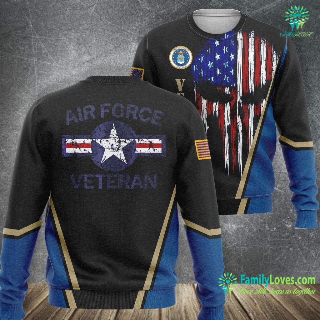 When Was The Air Force Established Air Force Veteran With Vintage Roundel Grunge Air Force Sweatshirt All Over Print Familyloves.com